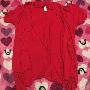 Oversized shirt and Cardigan